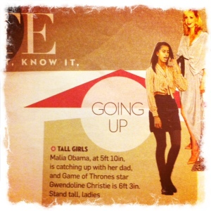 Sunday Times Style - tall girls are going up (obvs)