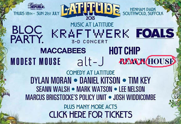 Latitude festival first line-up announcements - one lady