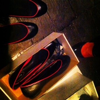 Shoes at Upper Street's 9/10 club launch at Opium