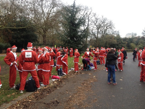 london santa run battersea park (2)