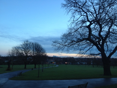 christmas morning in brockwell park