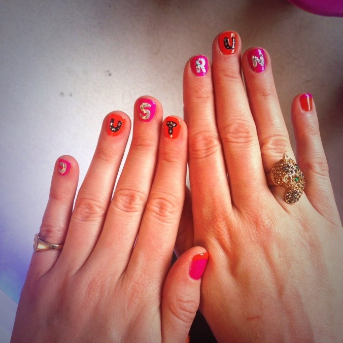 london marathon 2014 nail art reecey roos
