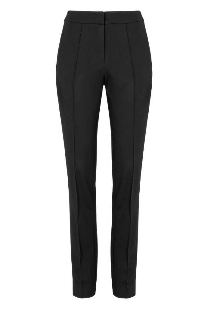 long tall sally ponte trousers leather look trim