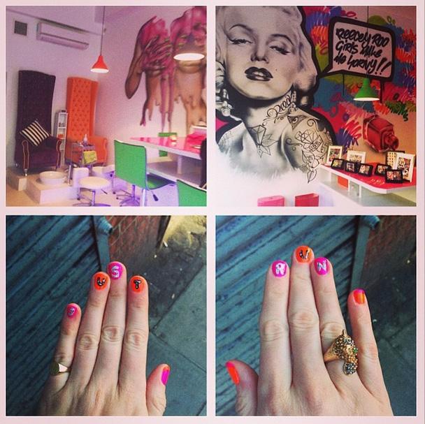 My amazing marathon nail art at Reecey Roo's on Camberwell Green
